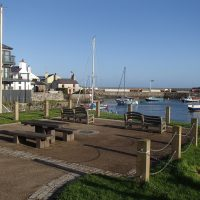 Picnic area at harbour end of big beach car park