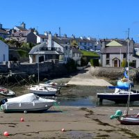 The small slipway in Cemaes Harbour