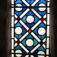 Stain glass window Font, Llanbadrig Church