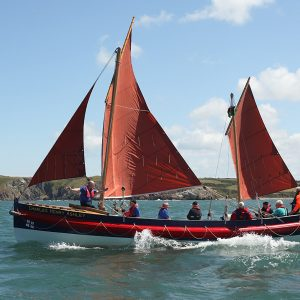 Charles Henry Ashley classic lifeboat under sail