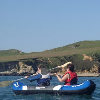 Kayaking in Cemaes Bay