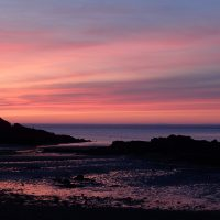 Sunset on Traeth bach