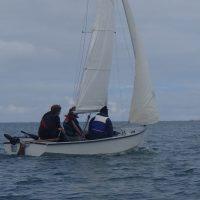 Sailing a Wayfarer in Cemaes Bay