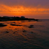 Cemaes Sunset Looking towards Penryn Headland
