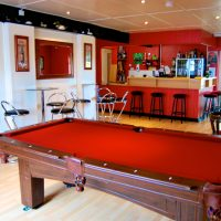 Coed Cottages bar area