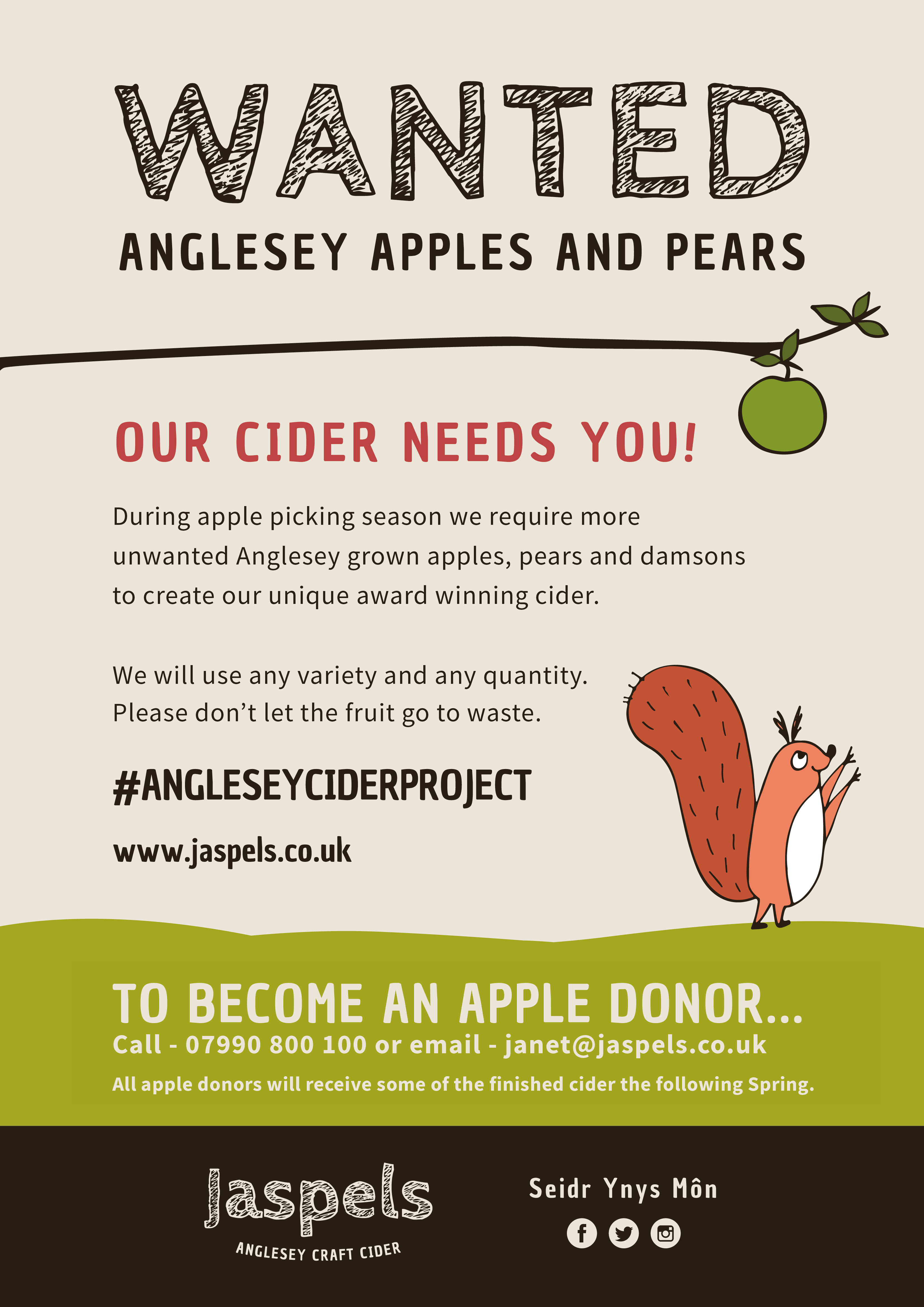 Donate your apples and pears to Jaspels Cider